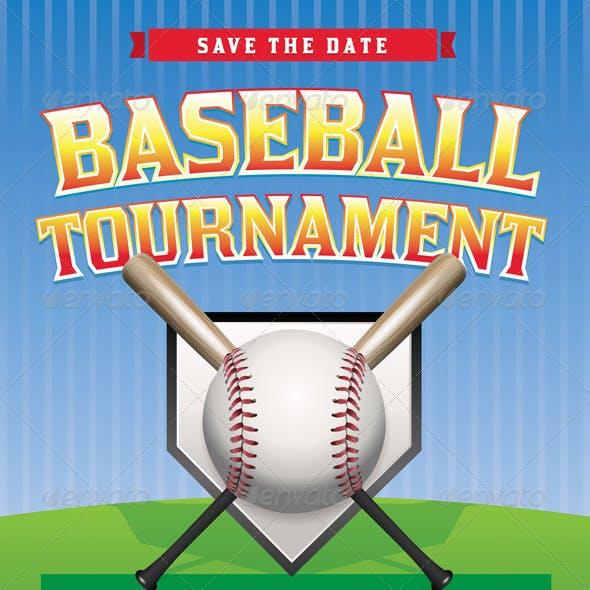 Vector Baseball Tournament Illustration