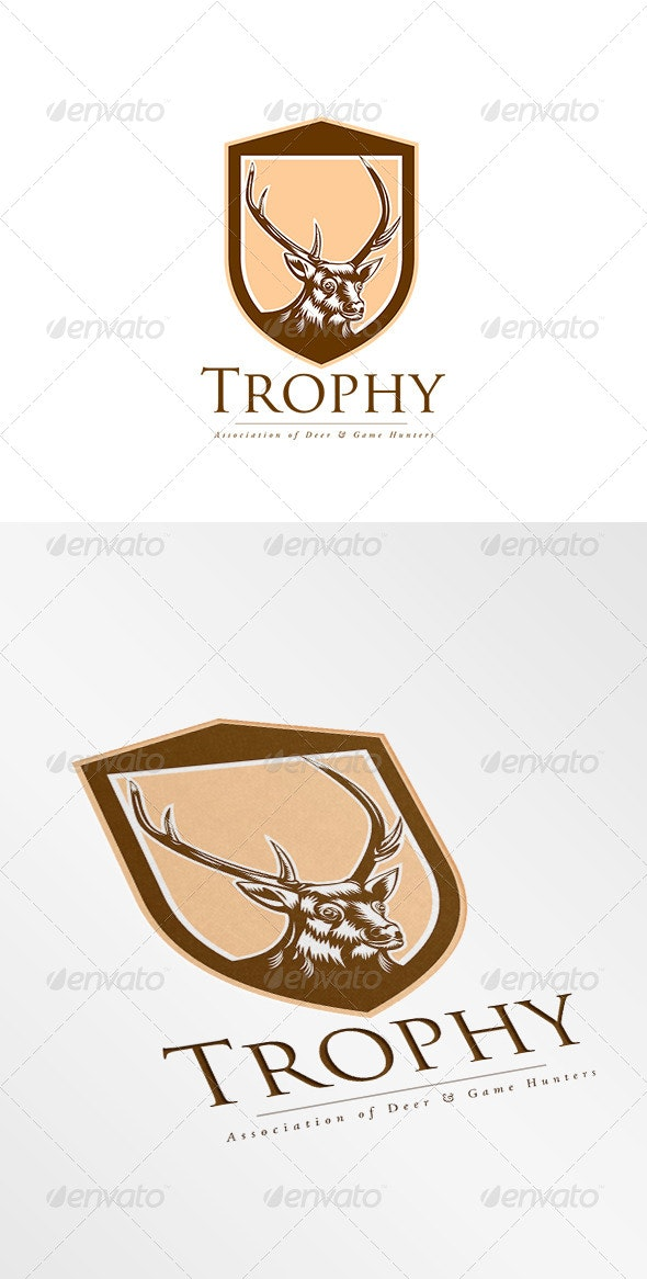 Trophy Association Deer Hunters Logo - Animals Logo Templates