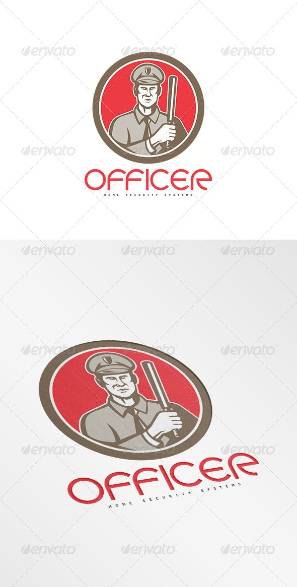 Officer Home Security Systems Logo - Humans Logo Templates