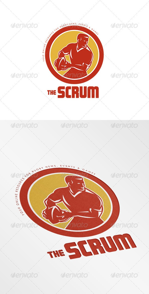 The Scrum Rugby News Logo - Humans Logo Templates