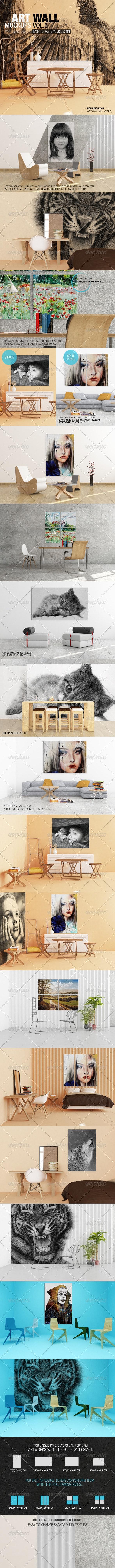 Art Wall Mockups Vol.5 - Miscellaneous Displays