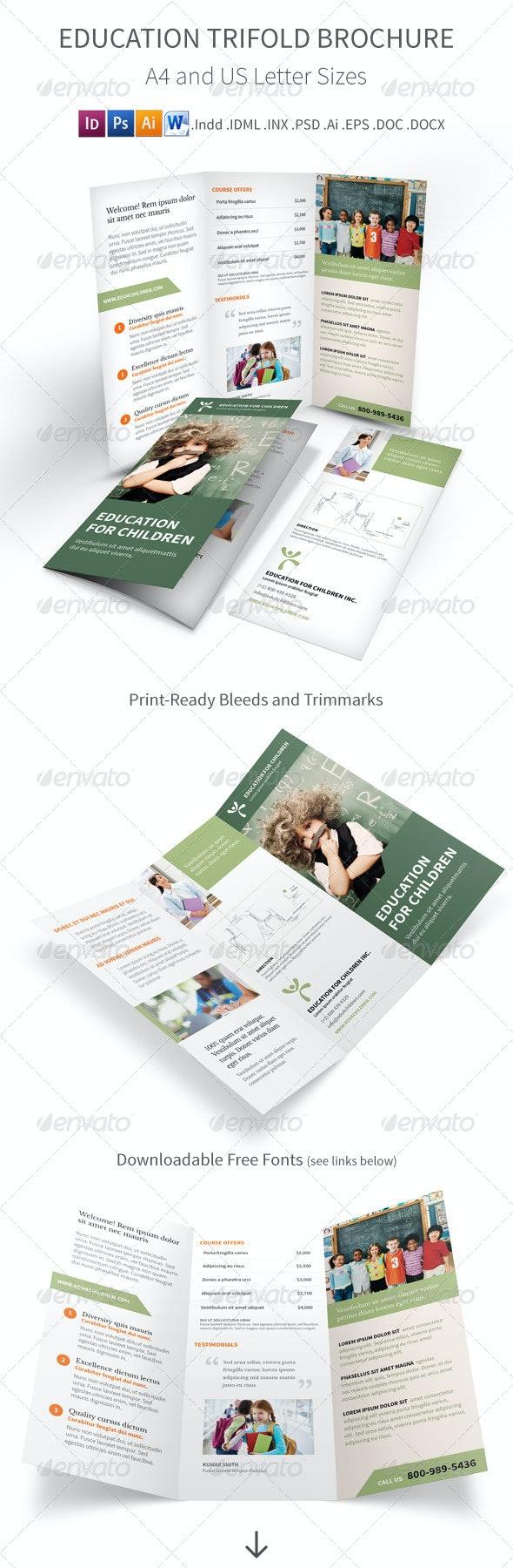 Education Trifold Brochure - Informational Brochures