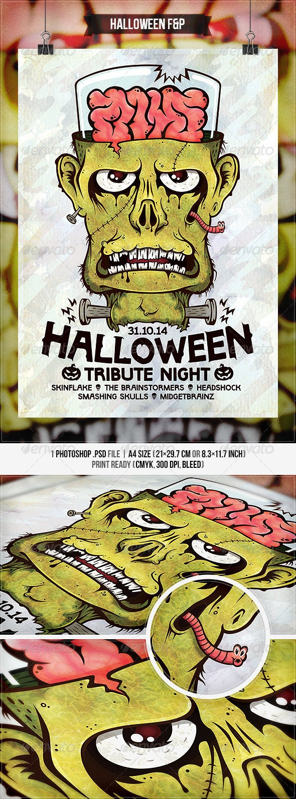 Halloween - Flyer & Poster - Concerts Events