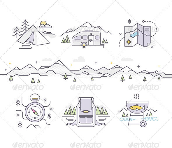 Camping Lifestyle - Travel Conceptual