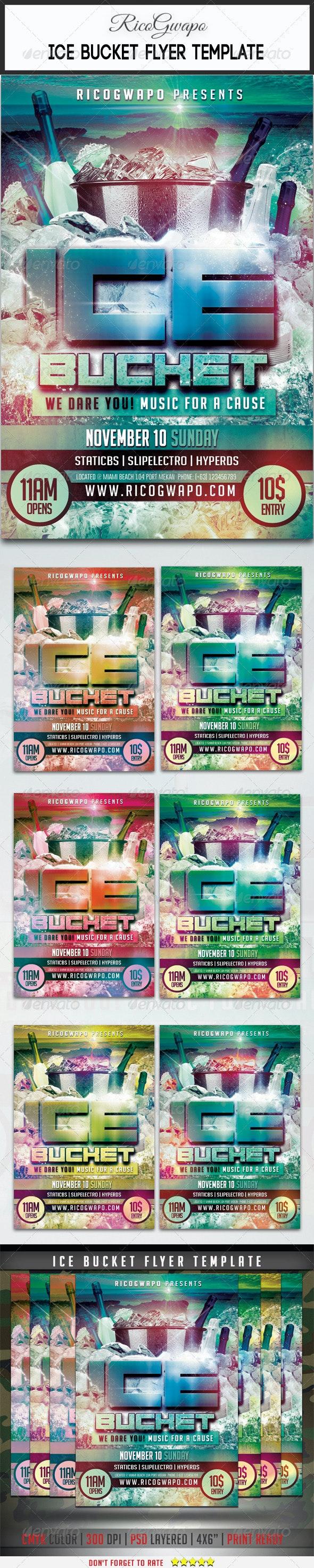 Ice Bucket Flyer Template - Flyers Print Templates