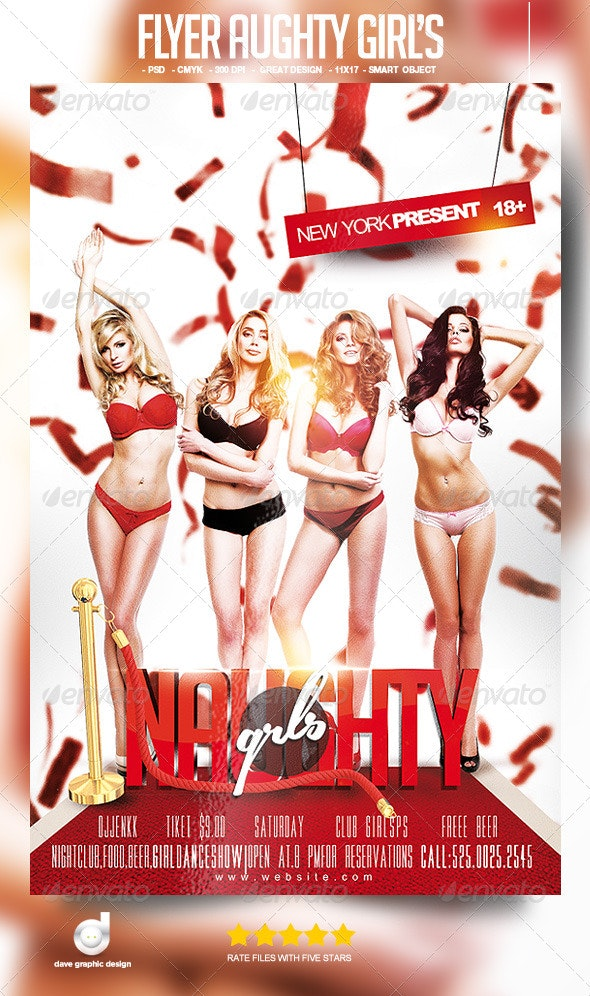 Flyer Naughty Girl's - Clubs & Parties Events