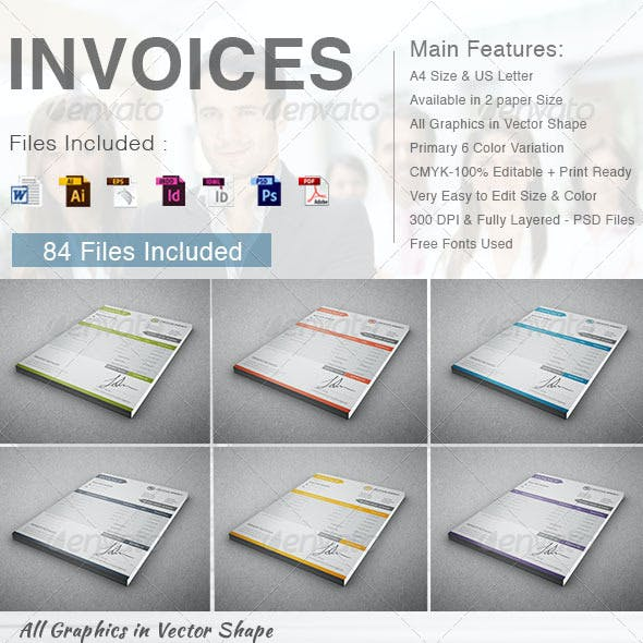 Invoices ( 6 in 1)