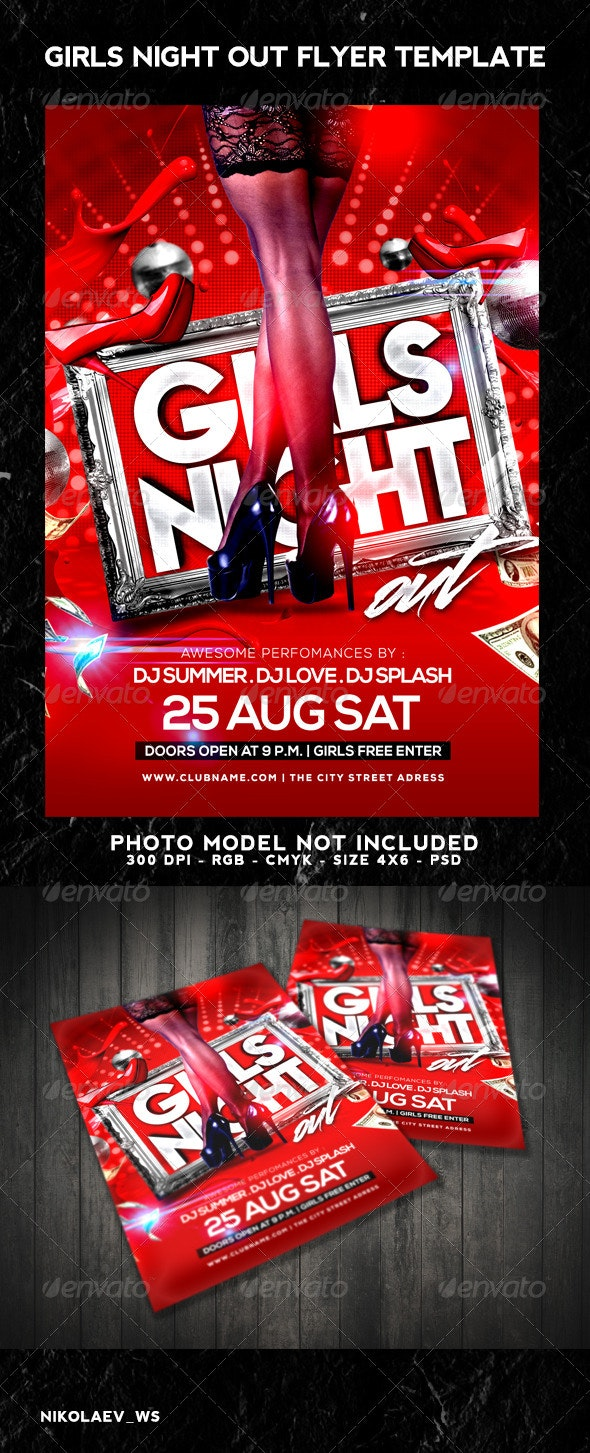 Girls Night Out Flyer - Clubs & Parties Events