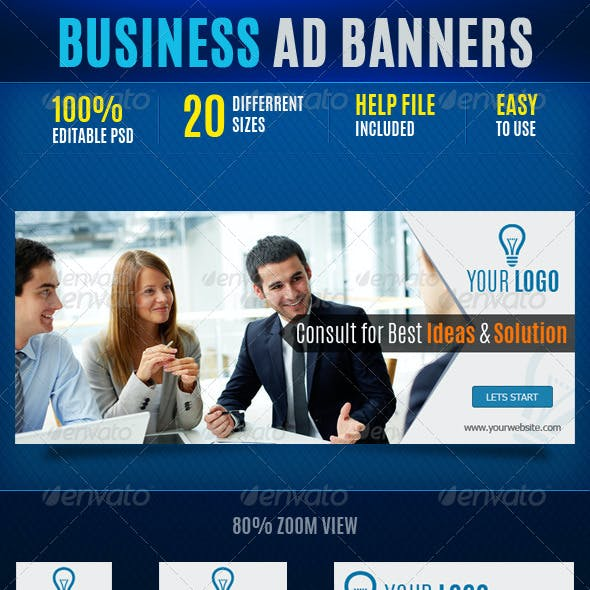 Business Web Ad Marketing Banners