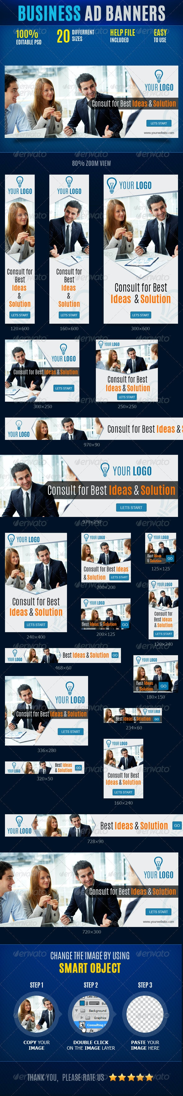 Business Web Ad Marketing Banners - Banners & Ads Web Elements
