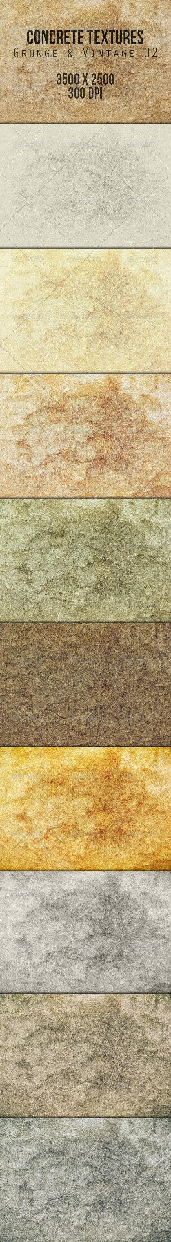 Concrete Textures - Grunge & Vintage 02 - Industrial / Grunge Textures