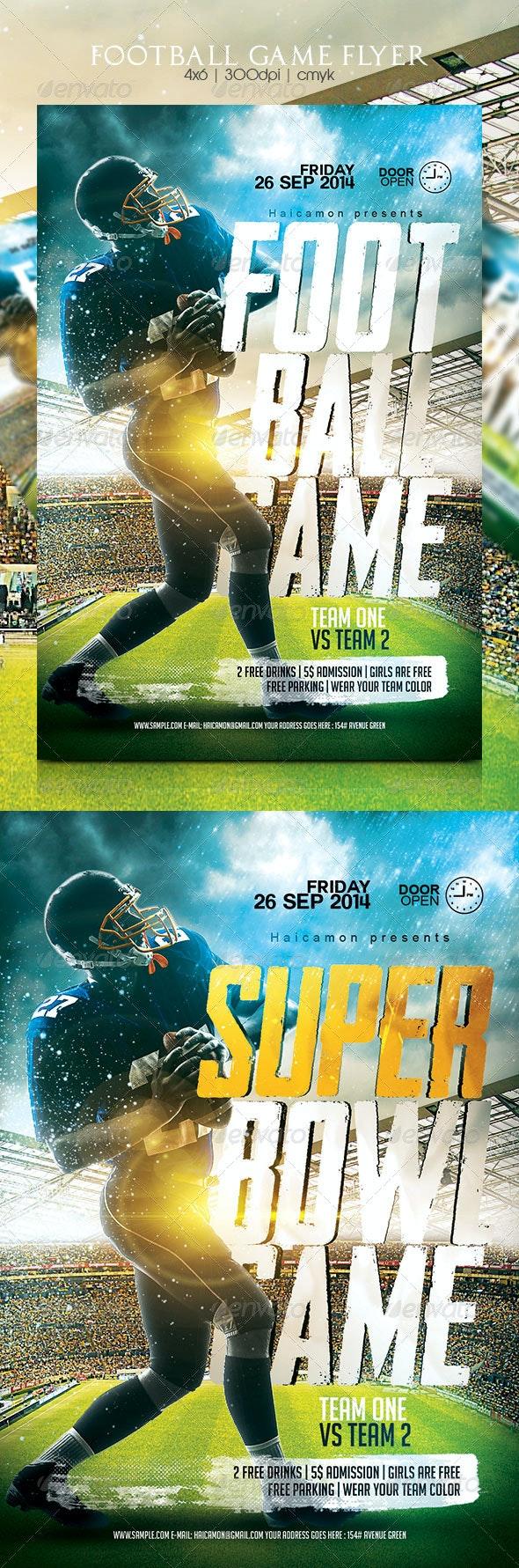 Football Game Flyer - Flyers Print Templates