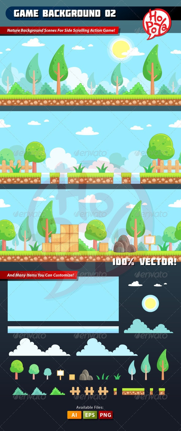 Game Background 02 - Backgrounds Game Assets