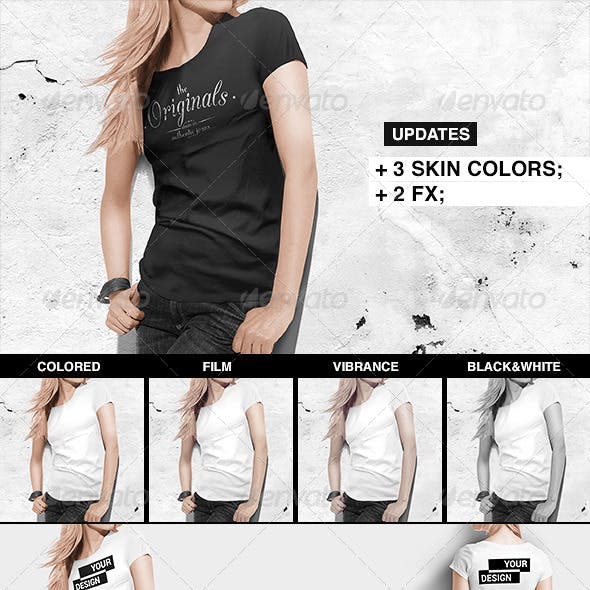 Women T-Shirt Mock-Up