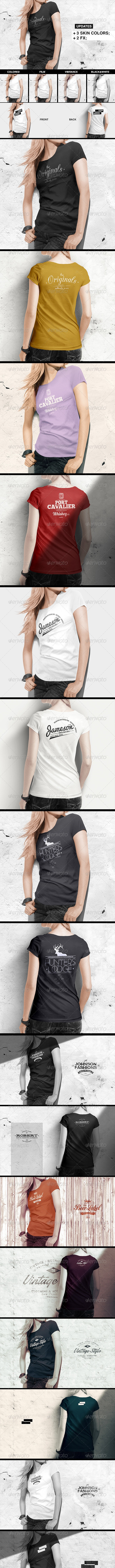 Women T-Shirt Mock-Up - T-shirts Apparel