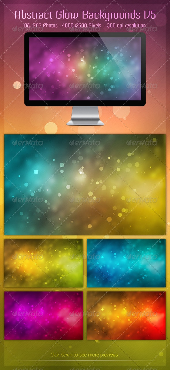 Abstract Glow Backgrounds V5 - Backgrounds Graphics