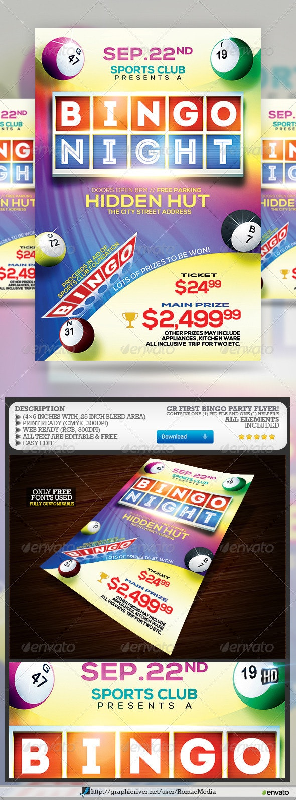 Bingo Party - Events Flyers