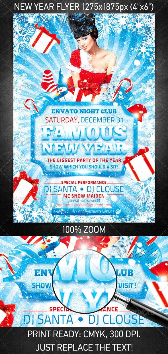 Famous New Year flyer - Clubs & Parties Events