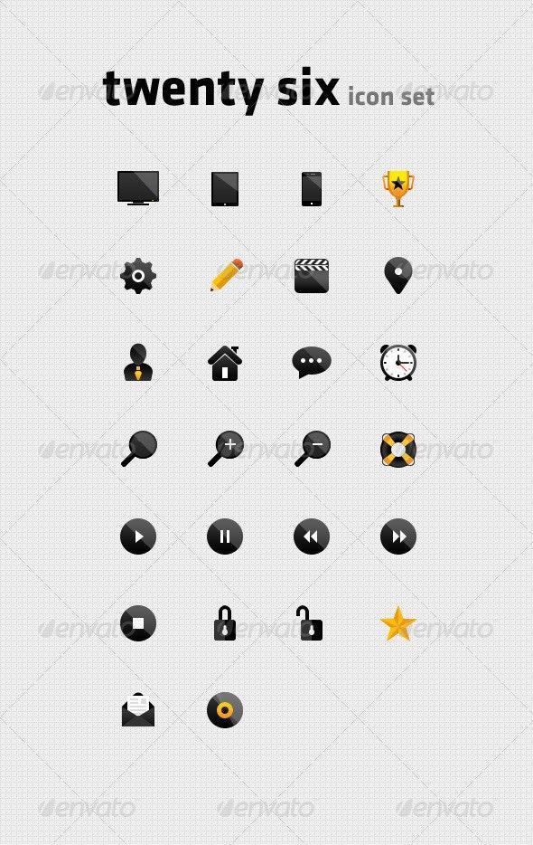 Twenty Six Icon Set - Web Icons