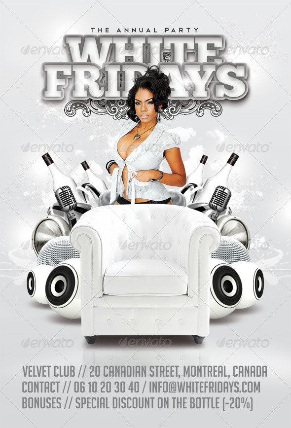 White Fridays Party In Club - Clubs & Parties Events