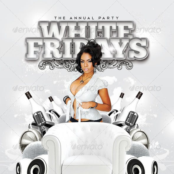 White Fridays Party In Club