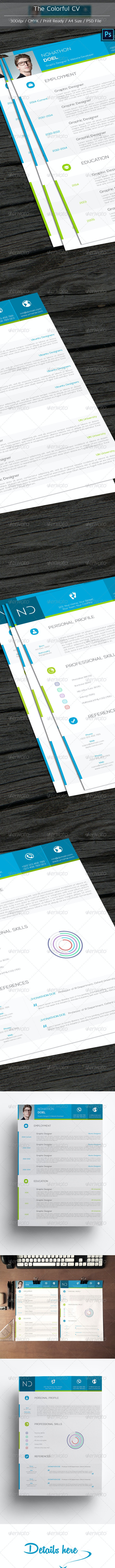 The Colorful CV - Resumes Stationery