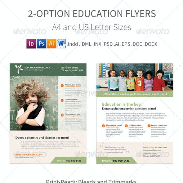 Education Flyers – 2 Options