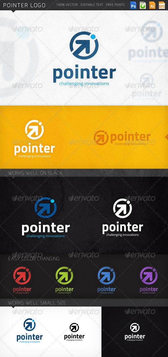 Pointer Arrow Circle Logo Template - Abstract Logo Templates