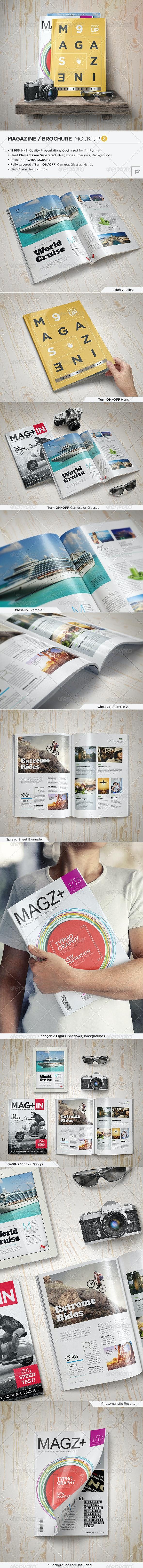 Magazine Mock-Up Set - 2 - Magazines Print