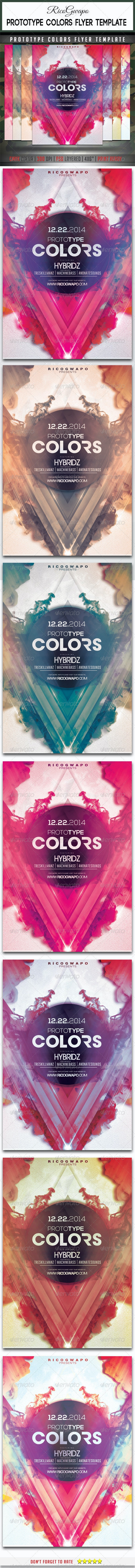 Prototype Colors Flyer Template - Clubs & Parties Events