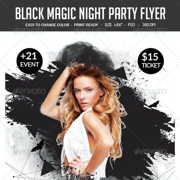 Black Magic Night Party Flyer