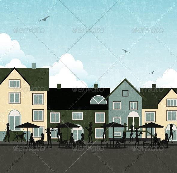 Outside Restaurants - Buildings Objects