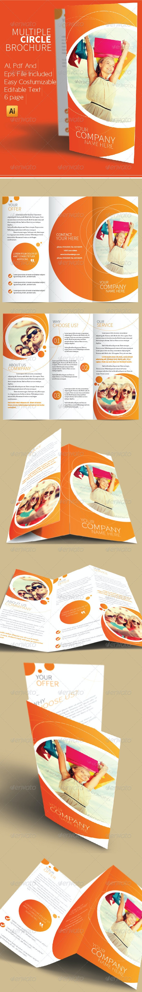 Multiple Circle Brochure - Brochures Print Templates