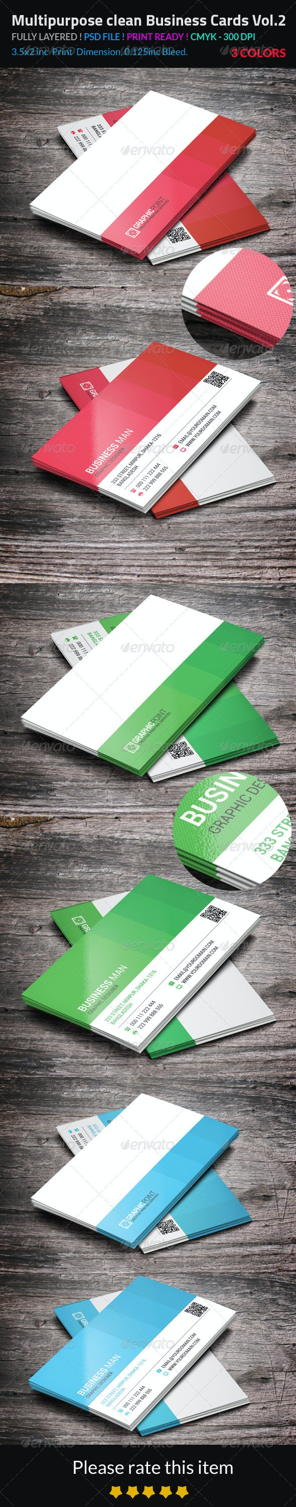 Multipurpose Clean Business Cards Vol.2 - Corporate Business Cards