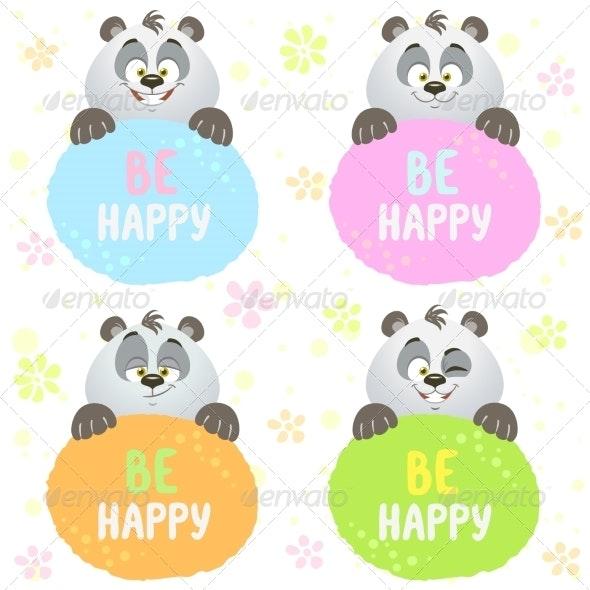 Panda Set - Animals Characters