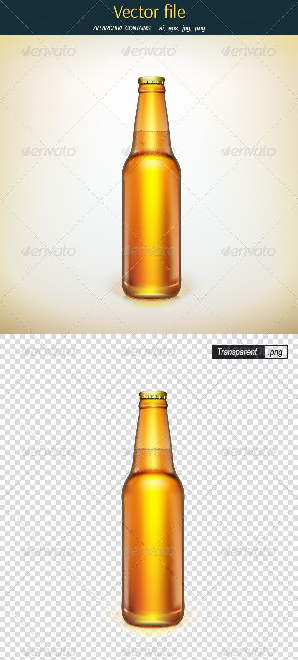 Bottle of Beer - Man-made Objects Objects