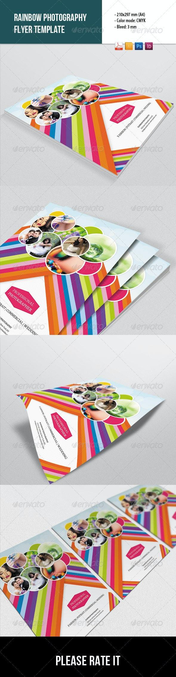 Rainbow Style Photography Flyer - Corporate Flyers