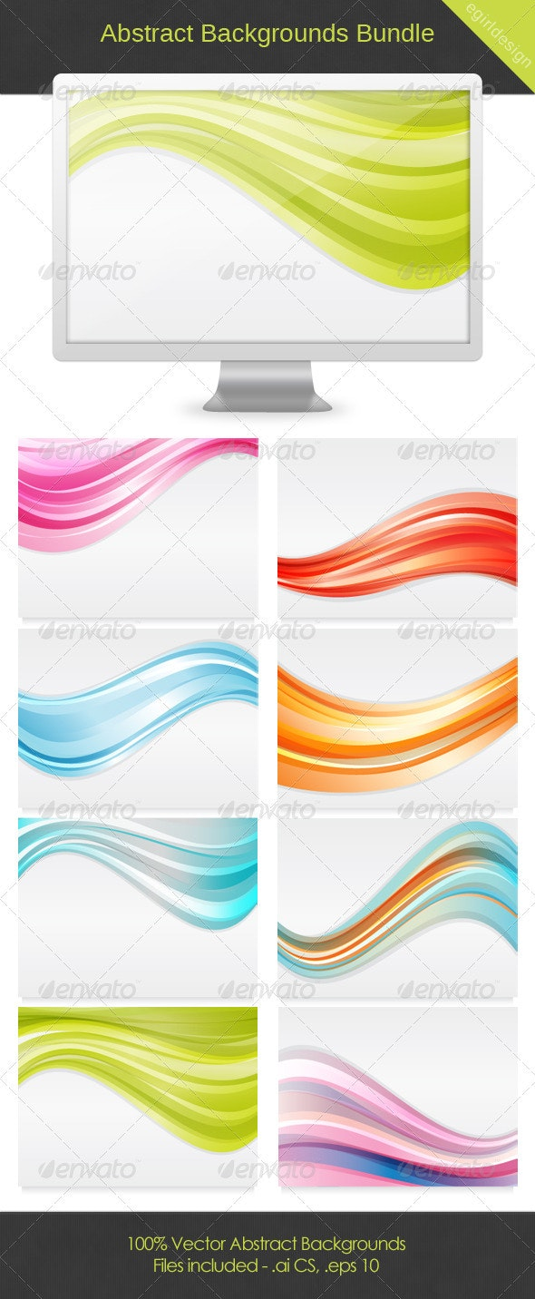 Abstract Background Bundle - Backgrounds Decorative