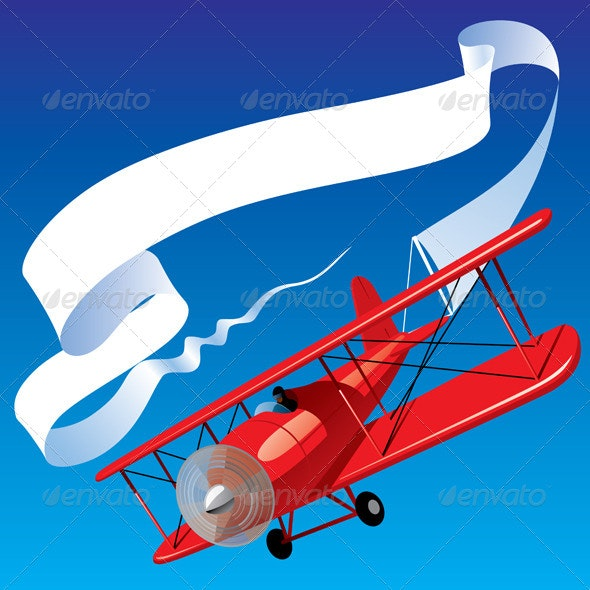 Airplane with a Banner - Man-made Objects Objects