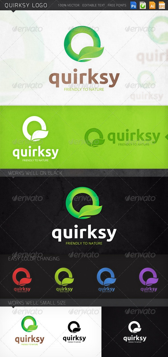 Quirksy Letter Q Logo Template - Letters Logo Templates