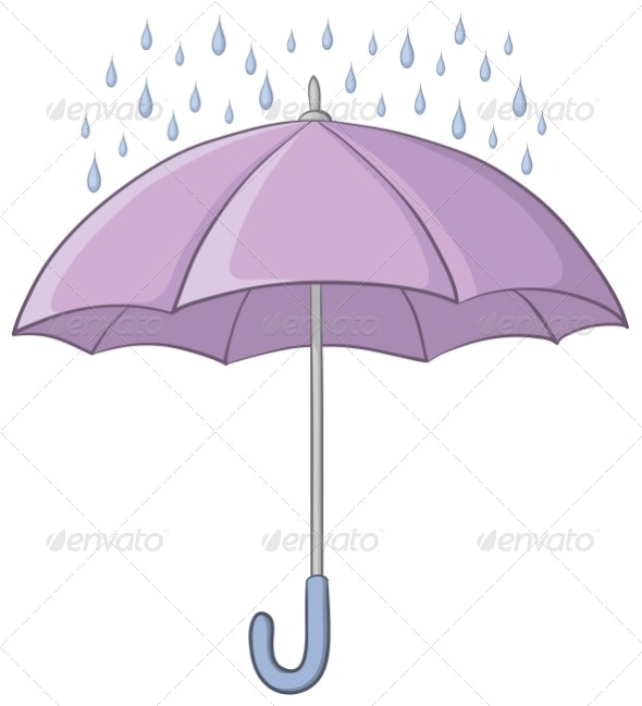Umbrella and Rain - Man-made Objects Objects