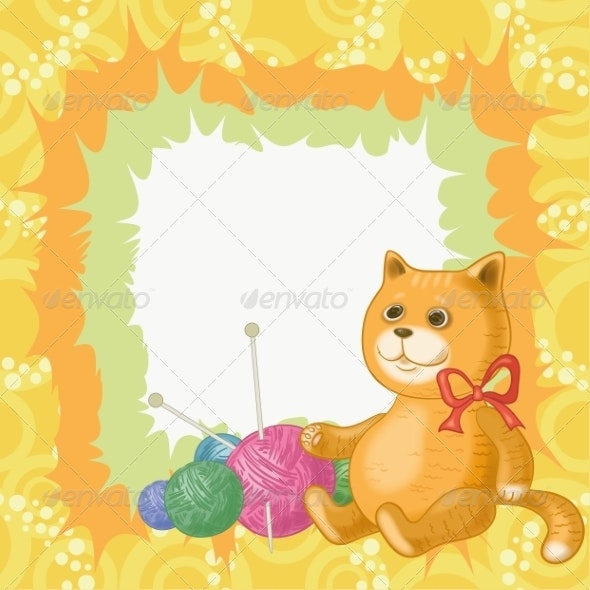 Cartoon Cat and Accessories for Knitting - Animals Characters