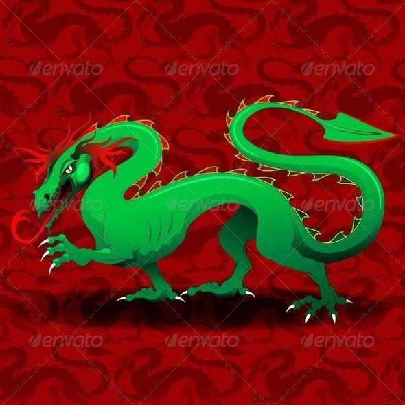 Green Dragon - Animals Characters