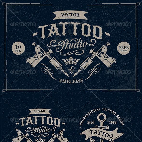 Tattoo Studio Emblems