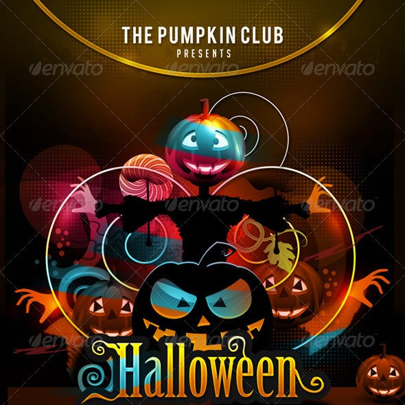 Halloween Annual Scaring Party In Club