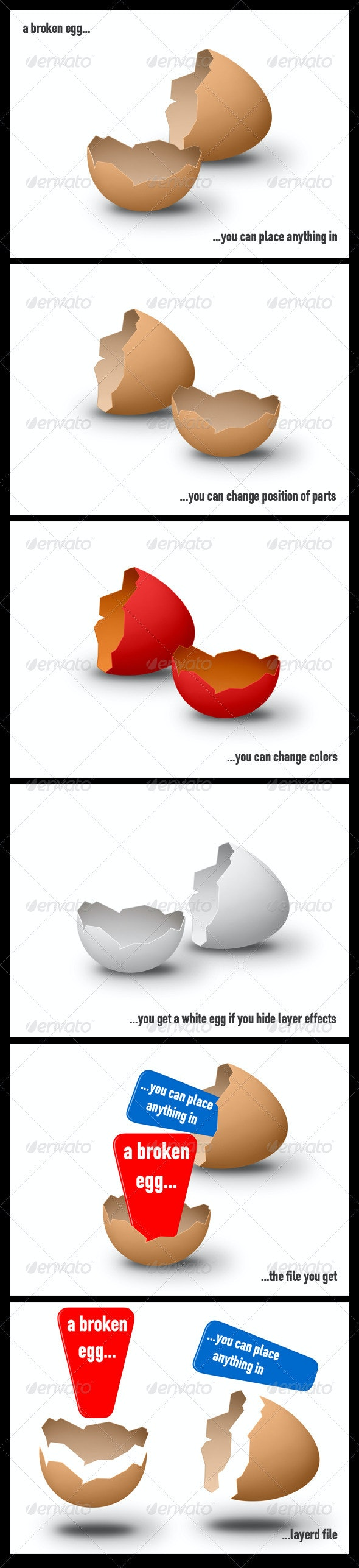 Broken Egg - Miscellaneous Backgrounds