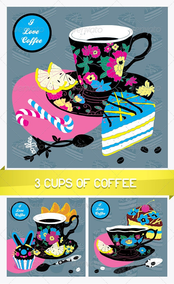 Elegant Cup of Coffee Card - Food Objects