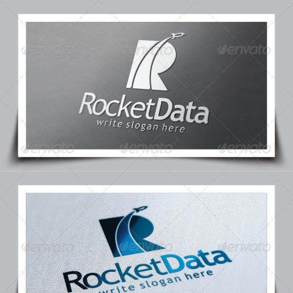 Rocket Letter (R) Logo Template
