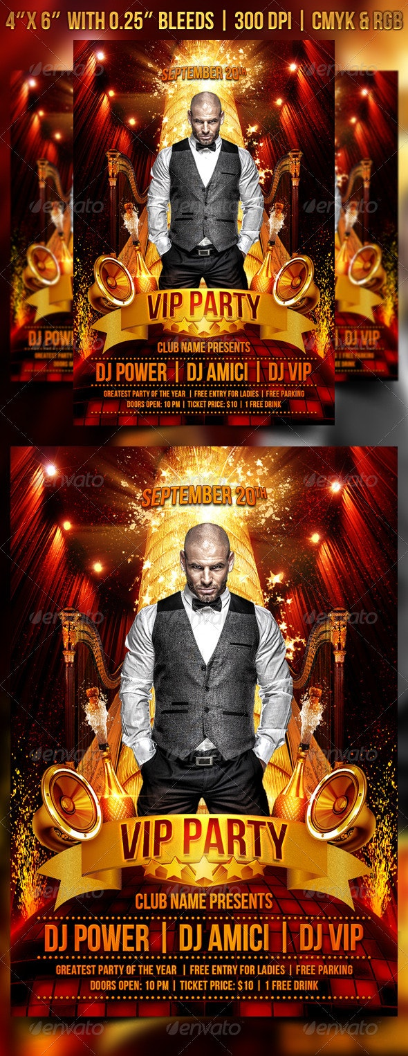 VIP Party Flyer Template - Clubs & Parties Events
