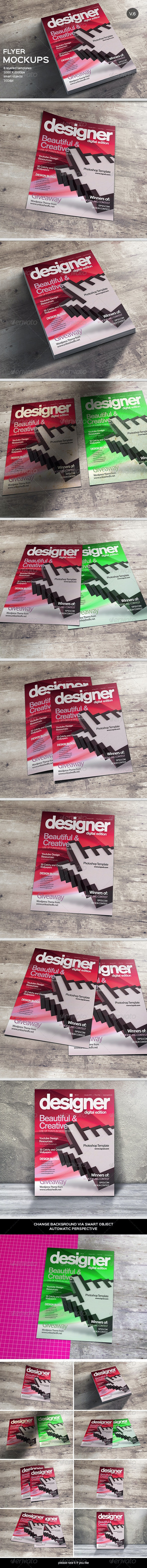 Flyer / Poster MockUp-Vol.6 - Flyers Print